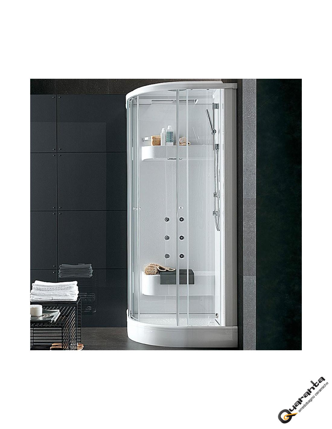 doccia cabina quaranta ceramiche rubinetteria termostatica