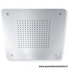 Sphera soffione Rain in acciaio inox a soffitto 40x40 cm
