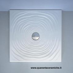Flaminia piatto doccia water drop  in ceramica H5,5 cm 80x80