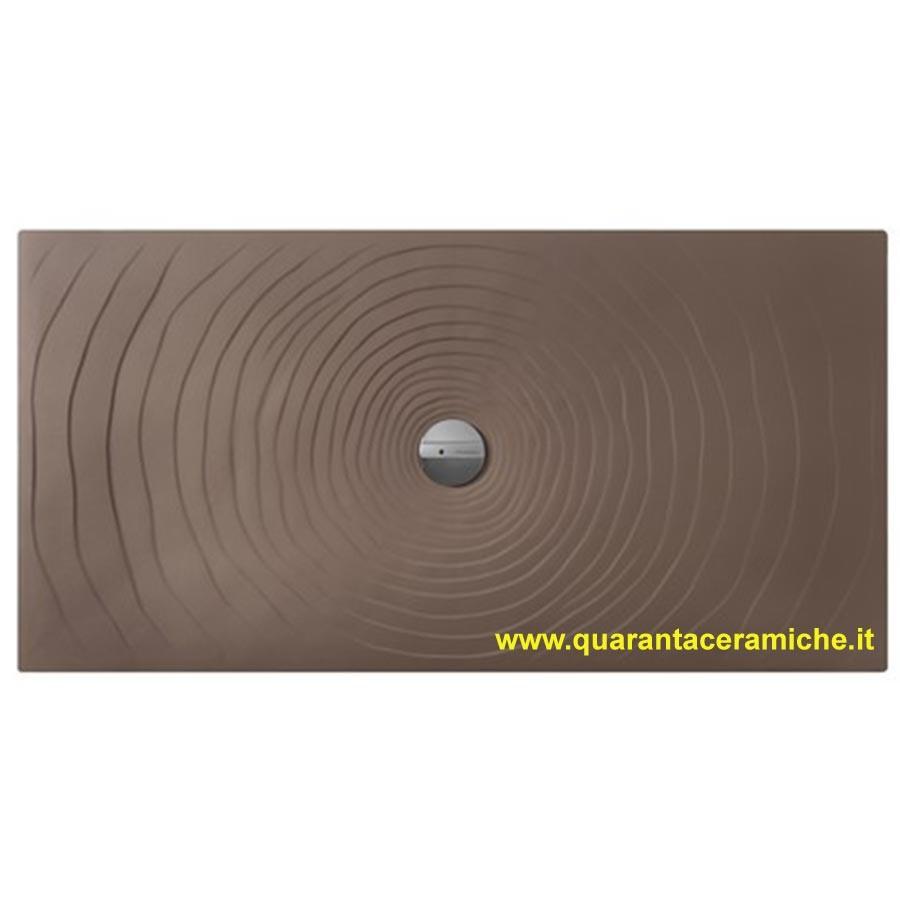 Piatti Doccia Ceramica Flaminia.Piatto Doccia Water Drop 80x120 Fango Flaminia Quaranta Ceramiche