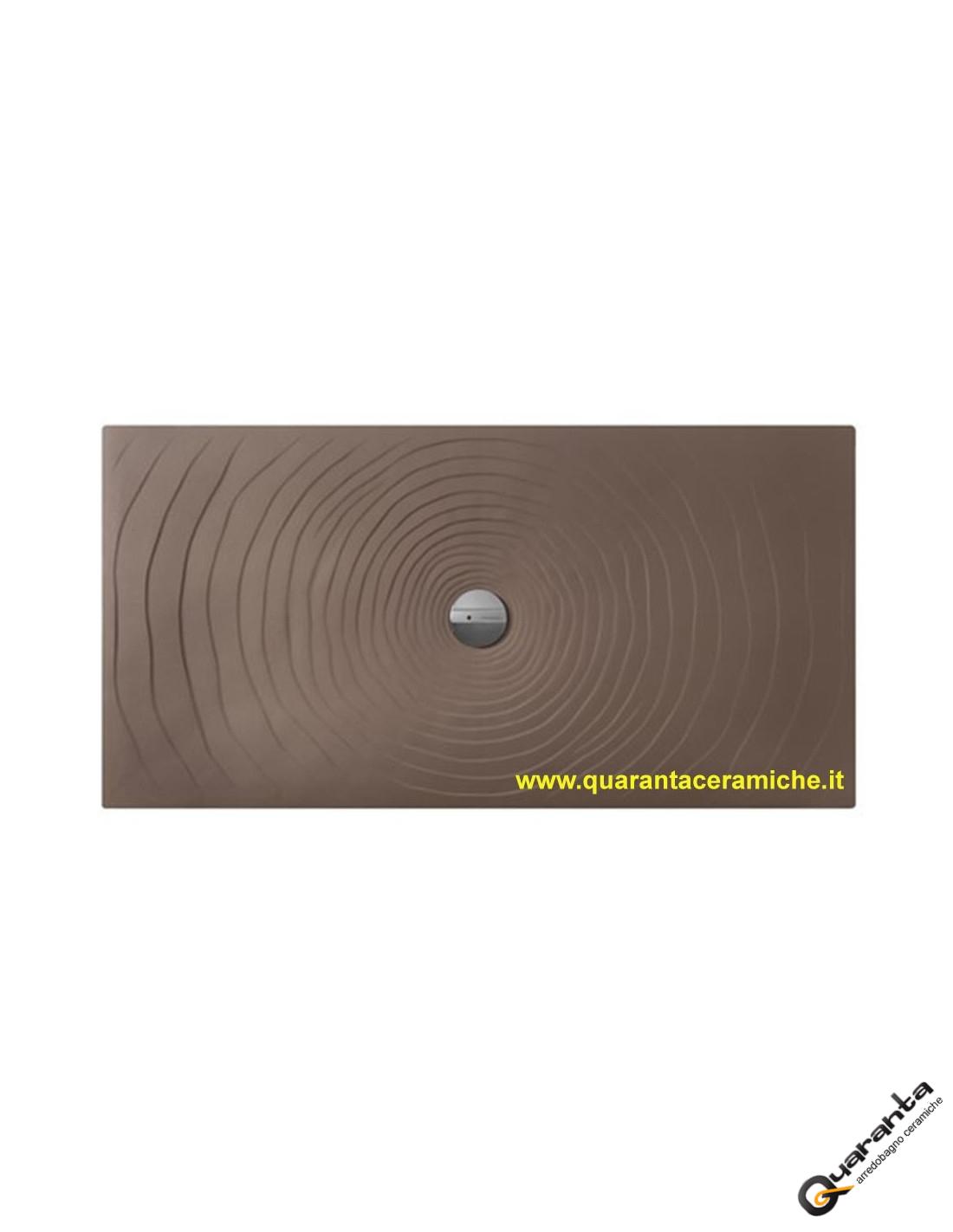 Piatti Doccia Ceramica Flaminia.Piatto Doccia Water Drop 80x140 Fango Flaminia Quaranta