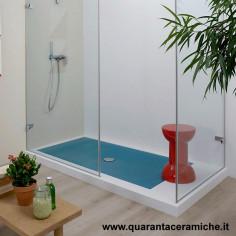Flaminia Water Drop piatto doccia 80x140 H5,5 cm NUVOLA