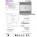 Flaminia piatto doccia water drop 80x140 grigio lava H5,5 cm