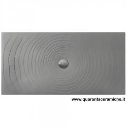 Flaminia Water Drop piatto doccia 80x140 H5,5 cm GRIGO LAVA