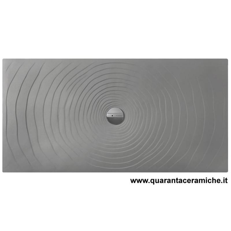 Piatti Doccia Ceramica Flaminia.Piatto Doccia Water Drop 80x140 Grigiolava Flaminia Quaranta