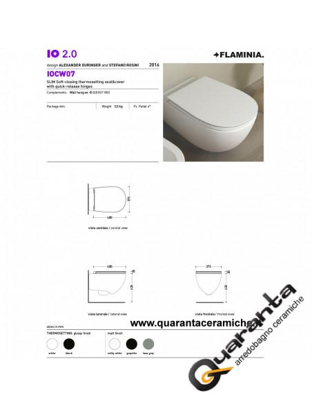 Ceramica Flaminia Io 2.0 coprivaso slim rallentato