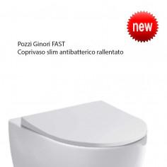 Pozzi Ginori Fast coprivaso slim antibatterico rallentato