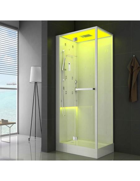 Jacuzzi cabina doccia Bali 120x80 multifunzione con bagno turco