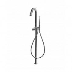 Bongio TIME2020 miscelatore vasca da terra con cartuccia progressiva e set doccia in acciaio inox 916