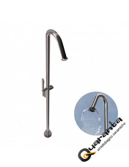 Bongio TIME2020 colonna doccia a pavimento con miscelataore a cartuccia progressiva, deviatore, set doccia in acciaio inox 916