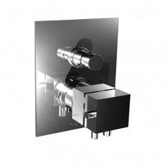 Bongio DOMINO Q Miscelatore termostatico incasso coassiale con deviatore automatico a 2 uscite
