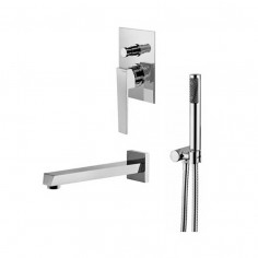 Bongio STELTH wall mounted bath tap with shower set