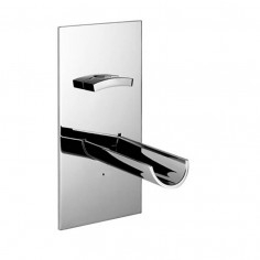 Bongio ACQUAVIVA wall mounted basin tap with 180mm spout on single plate with progressive cartridge