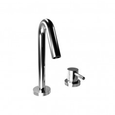 Bongio ON 2 holes basin tap with click-clack plug