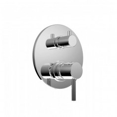 Bongio ON Wall mounted mixer with 2 ways meccanic diverter