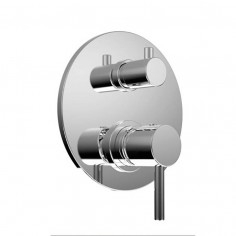 Bongio ON Wall mounted mixer with 3 ways meccanic diverter