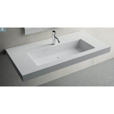 Solid sourface lavabo sospeso RECTO F