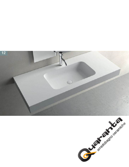 Solid sourface lavabo sospeso RADIO F