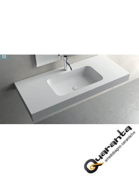 Solid sourface lavabo sospeso RADIO F