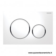 Placca di comando Geberit Sigma 20 Bianco Cromato 246X164 mm
