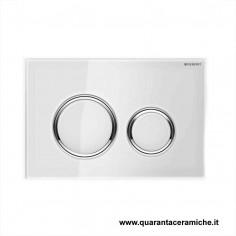 Flush plate Geberit Sigma 21 White glass