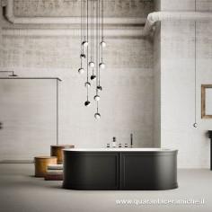 Blubleu Freestanding two-coloured Bath Payday 180x88x61