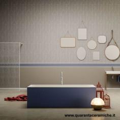 Blubleu Freestanding two-coloured Bath Sciarada 185x84x55