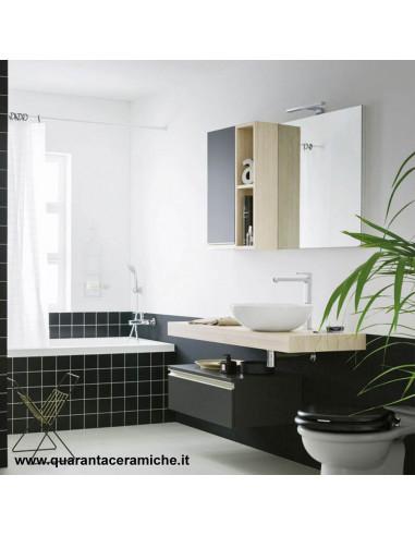 Mensola portalavabo Almond per bacinella L 70 x P 45,5 x H 8