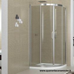Smeraldo box doccia semicircolare 90x90 cristallo trasparente 6 mm altezza 190 cm