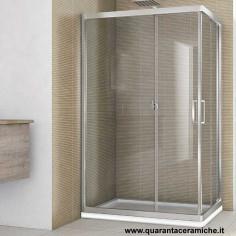 Smeraldo box doccia rettangolare 70x90 cristallo trasparente 6 mm altezza 190 cm