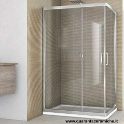 Smeraldo box doccia rettangolare 90x100 cristallo trasparente 6 mm altezza 190 cm