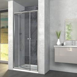 Zaffiro box doccia 80x80 porta battente+lato fisso h190 cristallo stampato