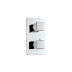 Bossini Cube miscelatore termostatico 3 uscite cromato completo di corpo incasso