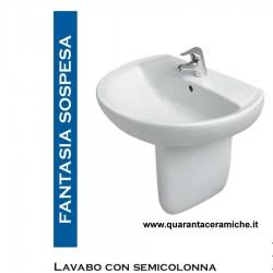 Pozzi Ginori Fantasia 1lavabo con semicolonna