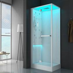 Jacuzzi cabina doccia Bali 120x80 multifunzione senza bagno turco