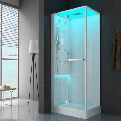 Jacuzzi cabina doccia Bali 120x80 multifunzione Idro Led