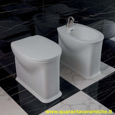 Flaminia Madre Back to wall Toilet Pan with soft close seat and bidet