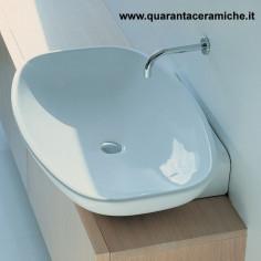 Ceramica Flaminia Bloom lavabo a consolle sospeso cm 107 colorato