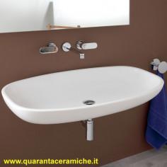 Flaminia Nuda 95 lavabo da appoggio o sospeso