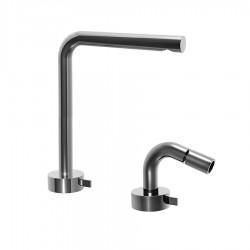 Fantini AF/21 Miscelatore lavabo alto e bidet monoforo cromo o acciao con cartuccia progressiva