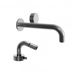 Fantini AF/21 Miscelatore lavabo da parete e bidet cromo o acciaio cartuccia progressiva