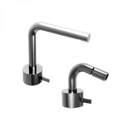 Fantini AF/21 Miscelatore lavabo e bidet monoforo cromo o acciaio con cartuccia tradizionale