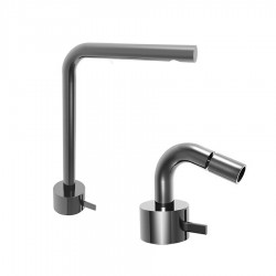 Fantini AF/21 Miscelatore lavabo alto monoforo e bidet cromo/acciaio con cartuccia tradizionale