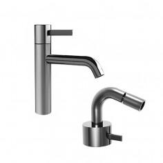 Fantini AF/21 Miscelatore lavabo monoforo e bidet cromo o acciaio con cartuccia tradizionale