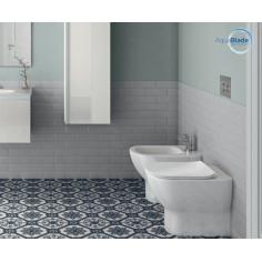 Sanitärkeramik mit Wandanschluss Ideal Standard Tesi WC AquaBlade Bidet und Toilettensitz mit Slow Close Funktion