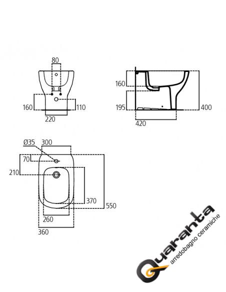 Ideal Standard Tesi kit sospeso vaso AquaBlade, bidet e coprivaso rallentato