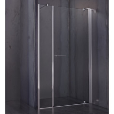 Porta doccia battente Nolan 70 cm cristallo trasparente 6mm altezza 185 cm