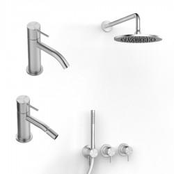Zazzeri Z316 Acciaio Inox AISI316 Miscelatore lavabo, bidet, doccia incasso, doccetta, braccio e soffione