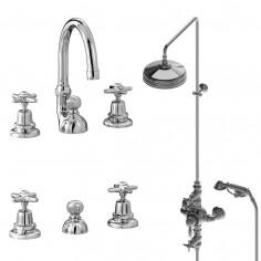 Stella Italica Gruppo lavabo, bidet e doccia