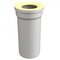 Manicotto diritto per WC 11 cm